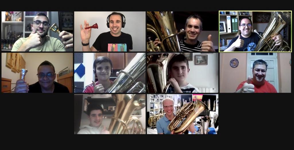 Participantes masterclass Daniel Ridder Tuba